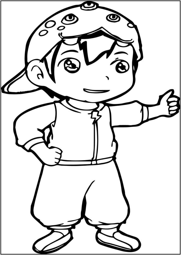 Tuyển tập tranh tô màu Boboiboy đẹp nhất cho bé tô màu