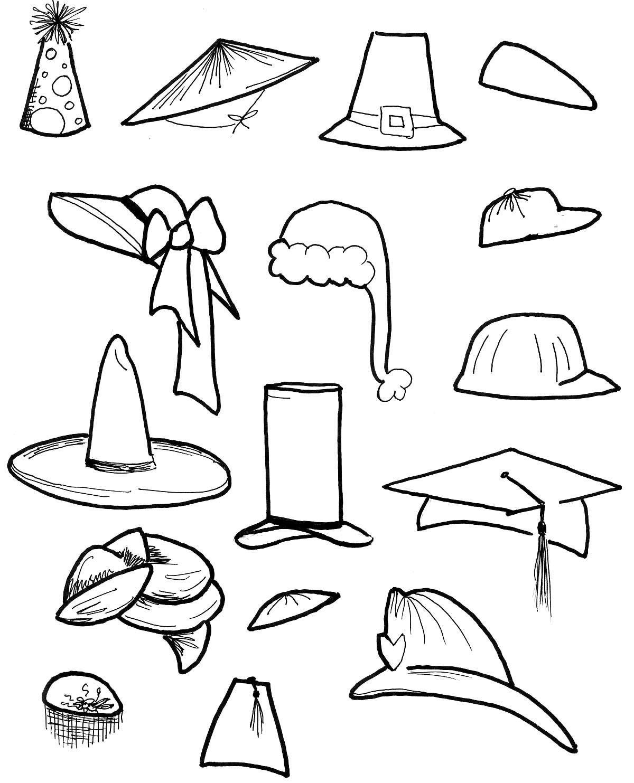 Tổng hợp các bức tranh tô màu cái mũ phù hợp cho bé trai lẫn bé gái