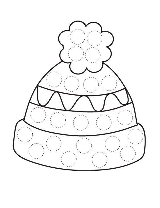 Tổng hợp các bức tranh tô màu cái mũ cho bé