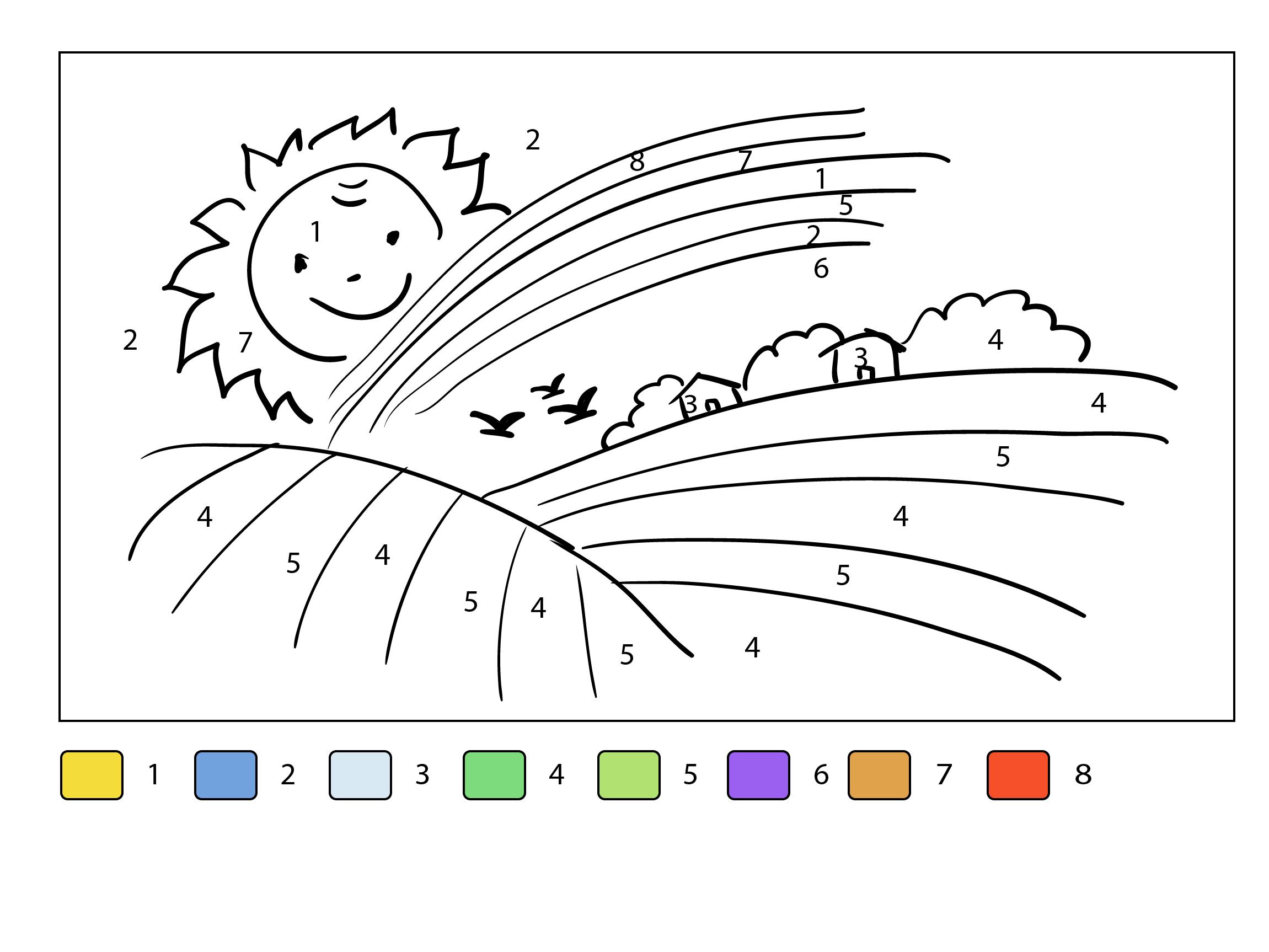 Tổng hợp các bức tranh tô màu cánh đồng lúa cho bé