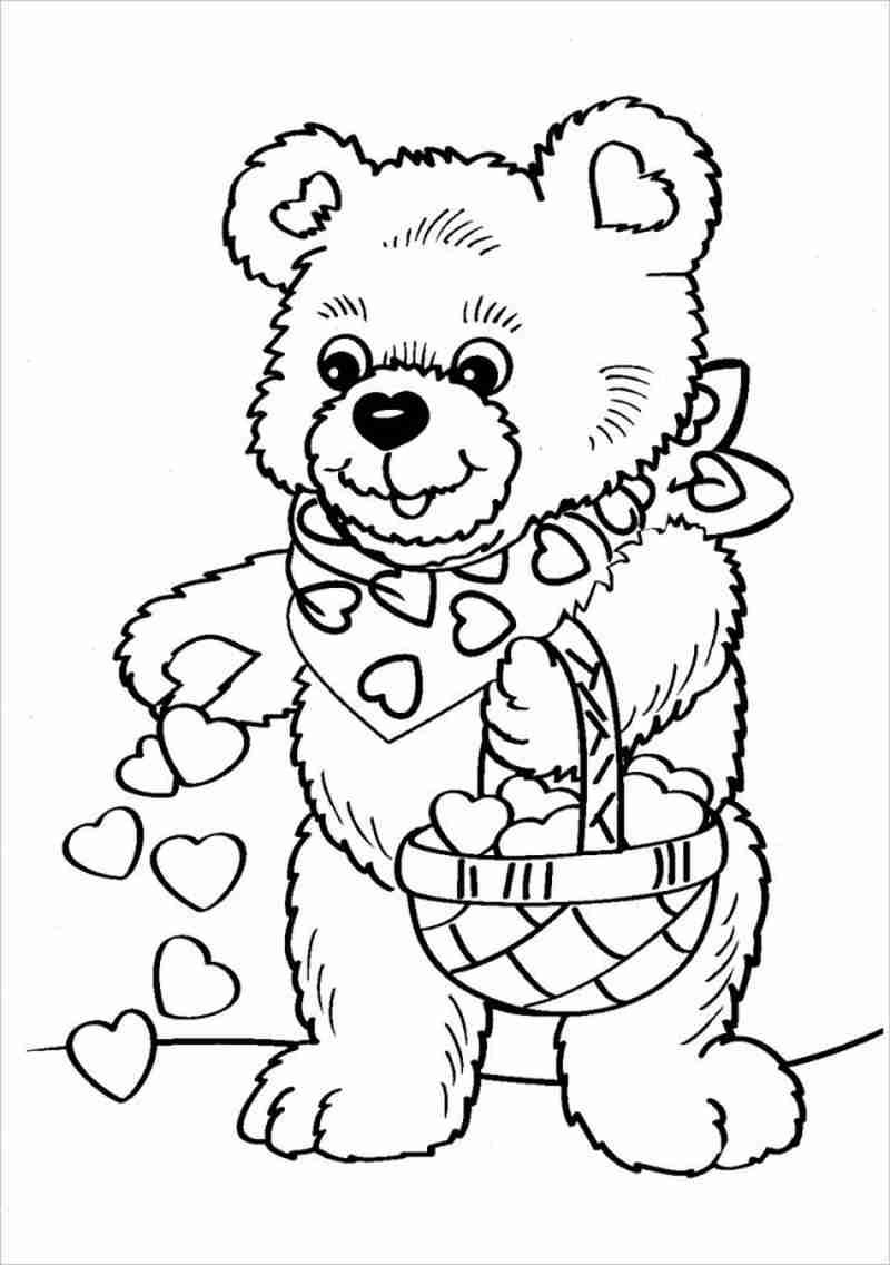 Tổng hợp các bức tranh tô màu con gấu cho bé
