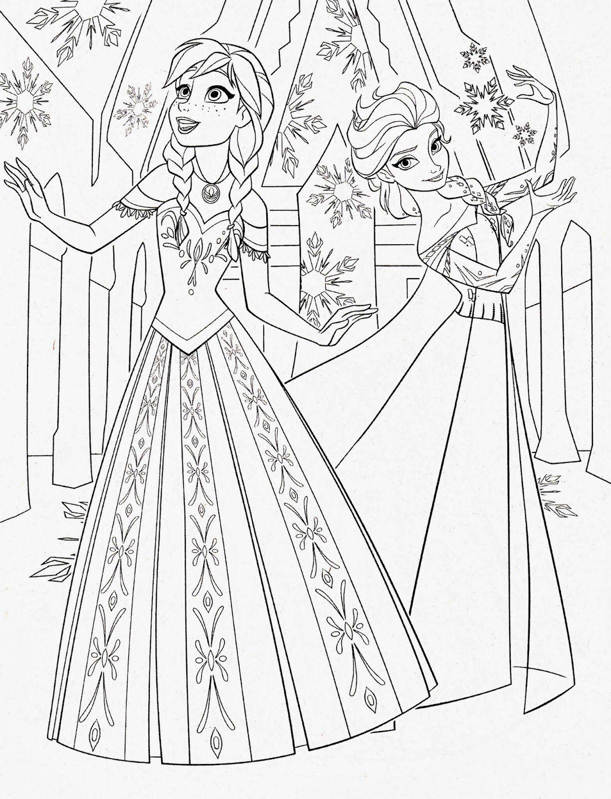Tuyển tập các bức tranh tô màu công chúa Anna đẹp nhất