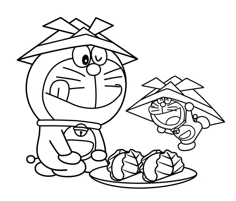 Tuyển tập tranh tô màu Doremon dành cho bé tập tô đẹp nhất
