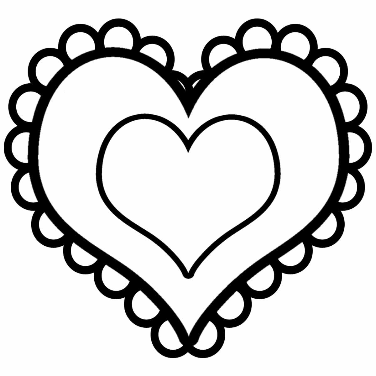 Top những bức tranh tô màu hình trái tim đẹp nhất dành cho các bé