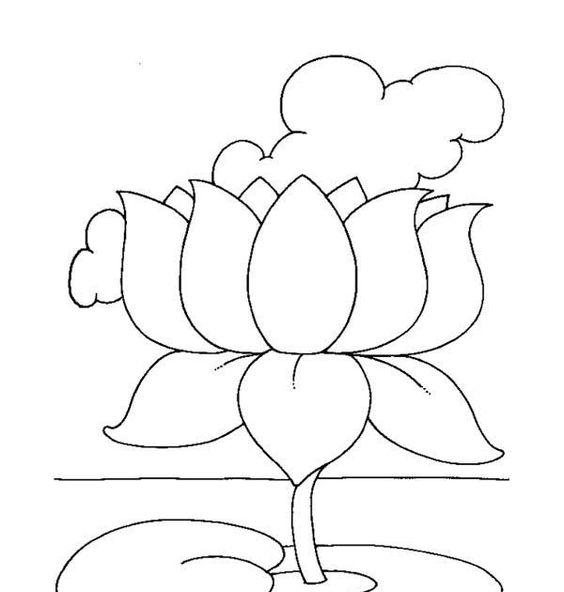 Tuyển tập các bức tranh tô màu hoa sen đẹp nhất cho bé tô màu