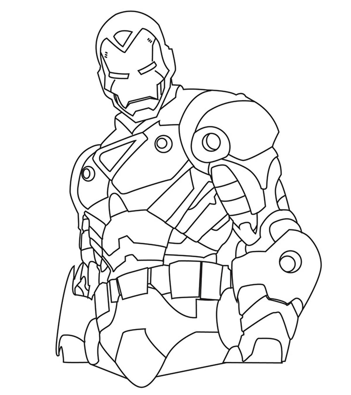 Tuyển tập các bức tranh tô màu Iron Man đẹp nhất dành cho bé