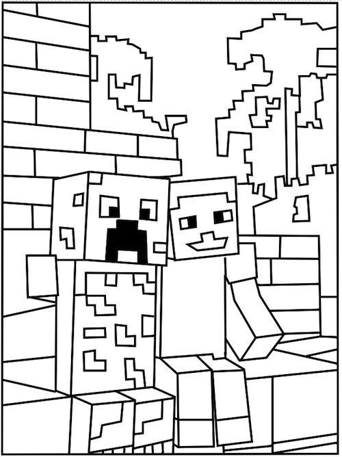 Tổng hợp các bức tranh tô màu Minecraft cho bé