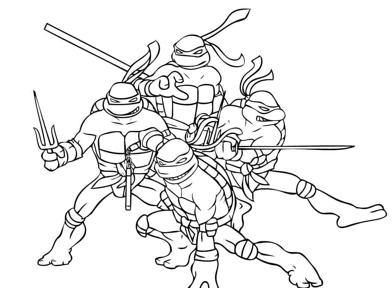 Tuyển tập các bức tranh tô màu Ninja rùa cho bé