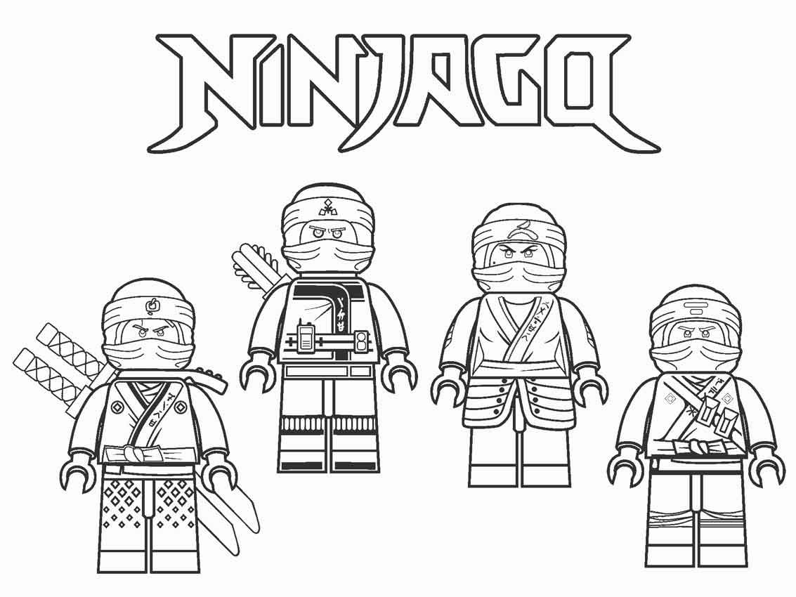 Tuyển tập các bức tranh tô màu Ninjago đẹp nhất cho bé