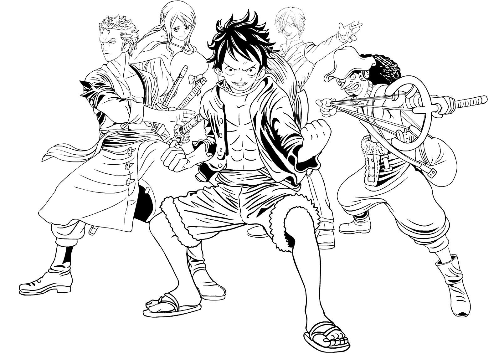 Tuyển tập các bức tranh tô màu One Piece dành cho các bé
