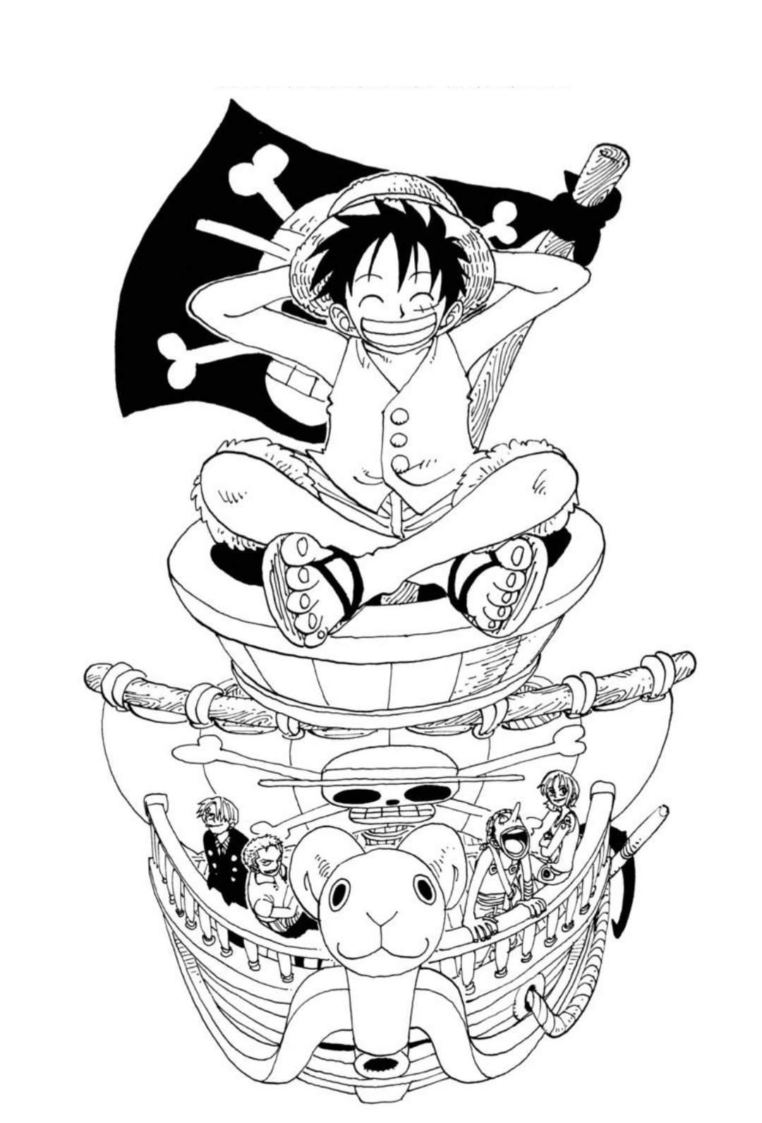 Tổng hợp các bức tranh tô màu One Piece cho bé