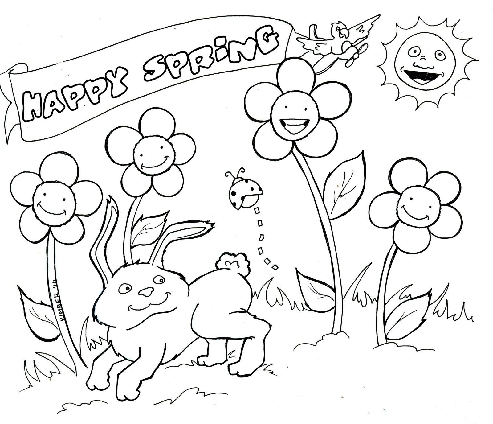 Tổng hợp các bức tranh tô màu phong cảnh mùa xuân đẹp nhất cho bé