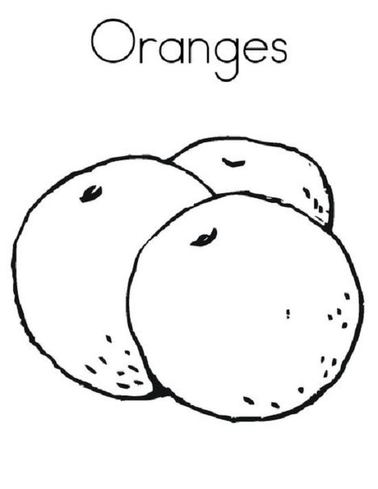 Tổng hợp các bức tranh tô màu quả cam cho bé