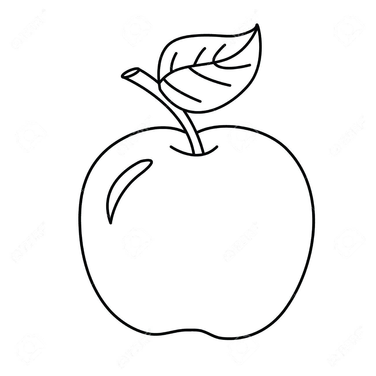 Bộ sưu tập các bức tranh tô màu quả táo cho bé tô màu