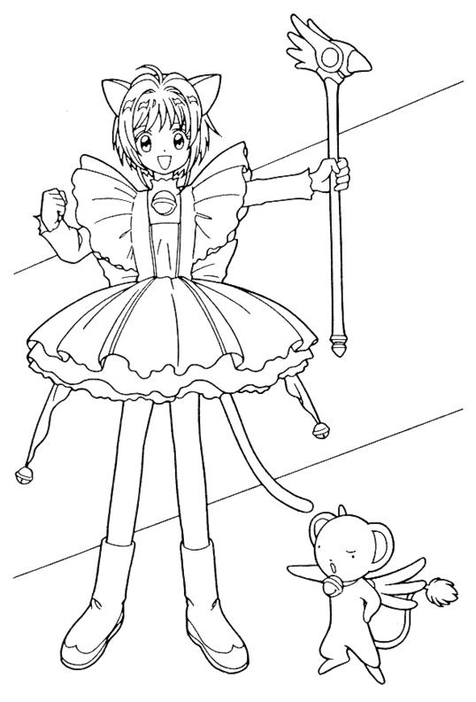 Tổng hợp các bức tranh tô màu Sakura cho bé
