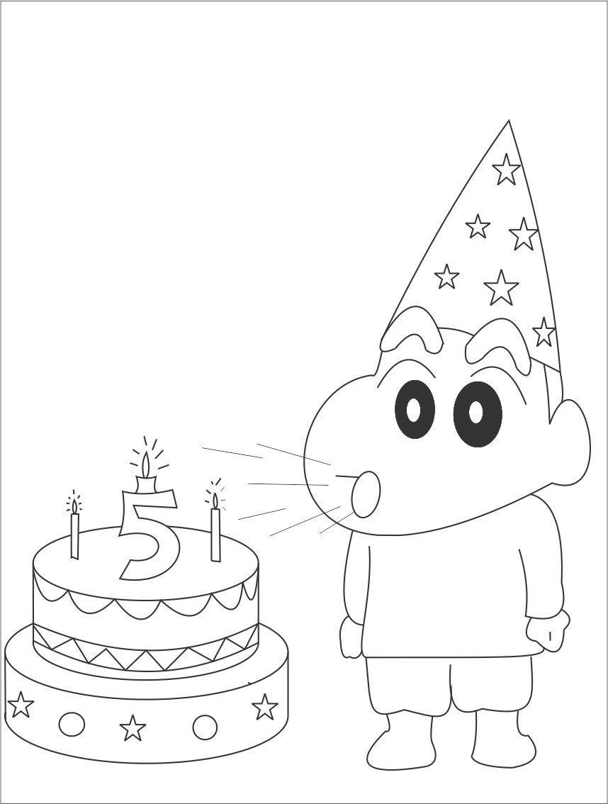 Tổng hợp các bức tranh tô màu Shin cậu bé bút chì cho bé