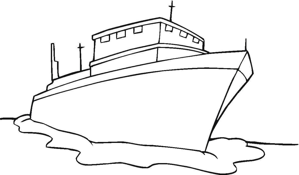 Bộ sưu tập những bức tranh tô màu tàu thủy cho bé tô màu