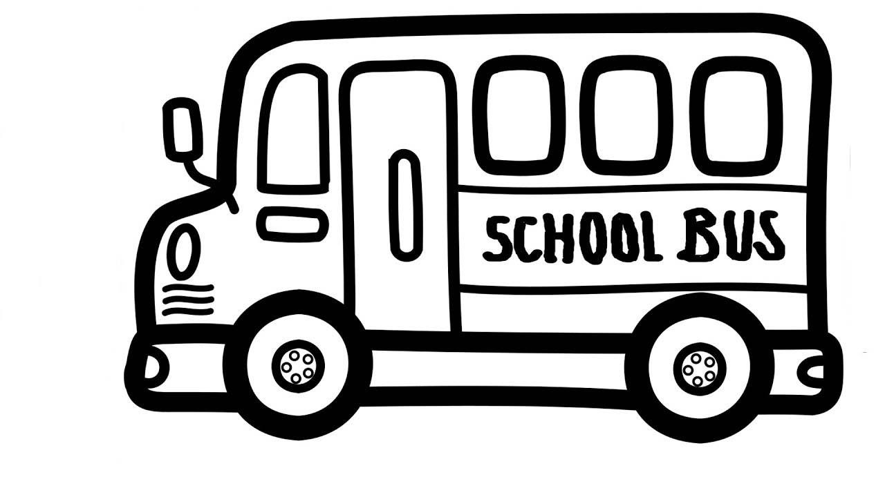 Bộ sưu tập các bức tranh tô màu xe buýt cho bé tô màu