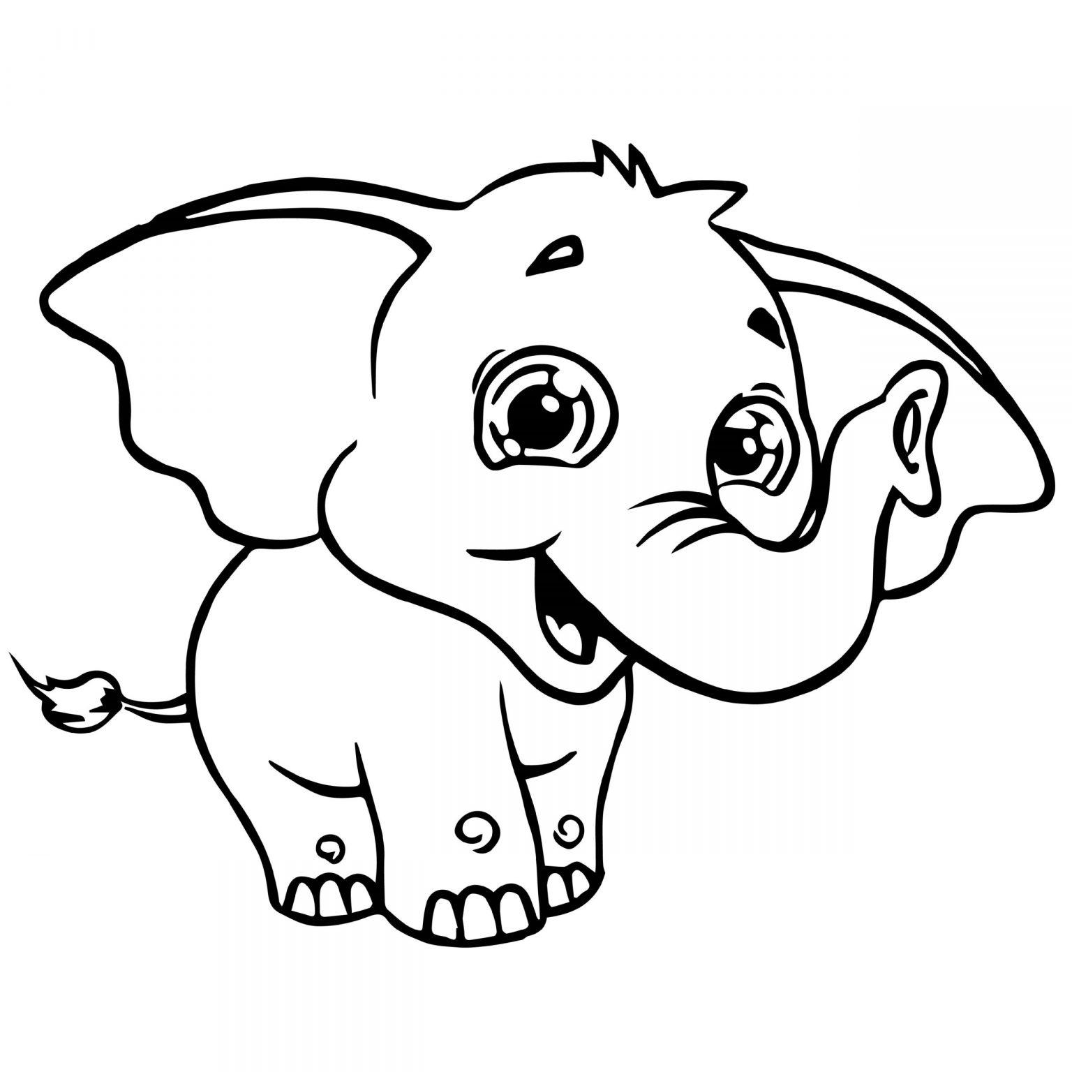 Tổng hợp các bức tranh tô màu con voi được nhiều bé yêu thích