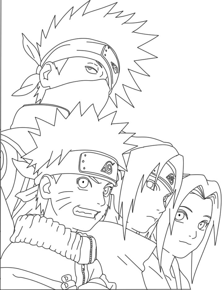 Tổng hợp các bức tranh tô màu Naruto đẹp nhất