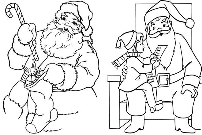 Tổng hợp tranh tô màu ông già Noel đẹp nhất