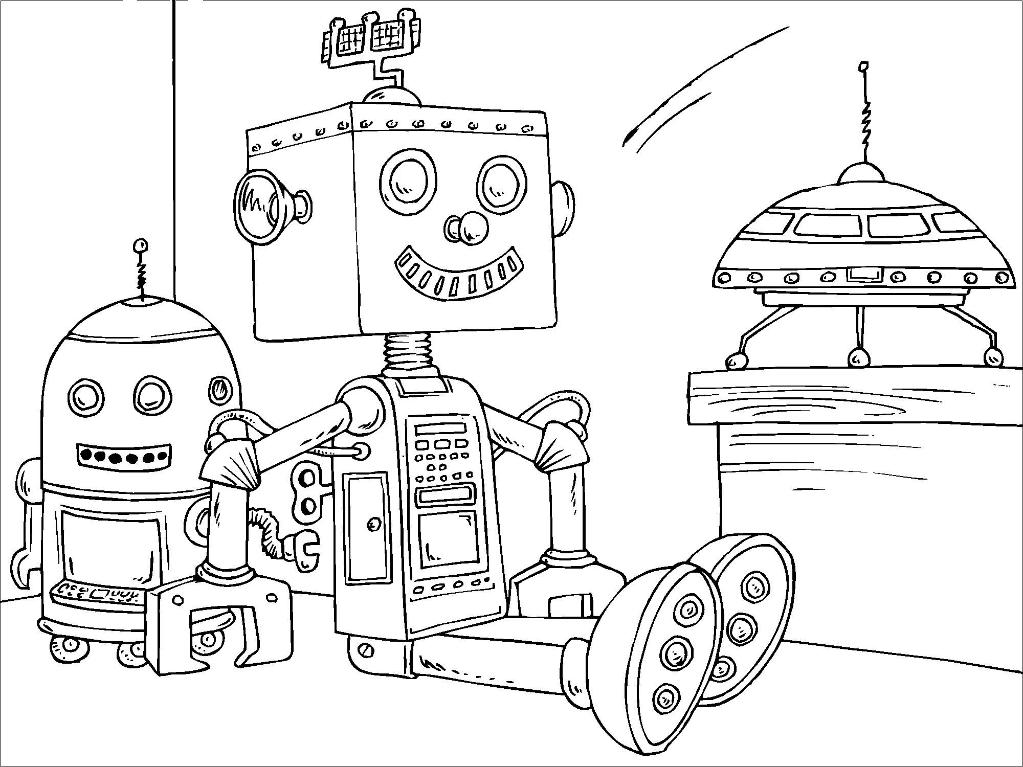 Tổng hợp 50 bức tranh tô màu Robot cho bé trai sáng tạo, mạnh mẽ