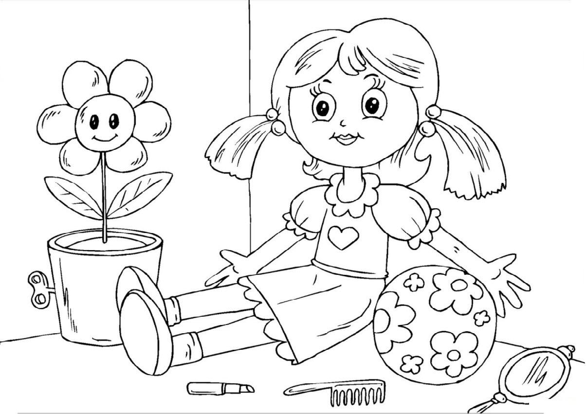 Tranh tô màu cho bé gái 5 tuổi đẹp nhất