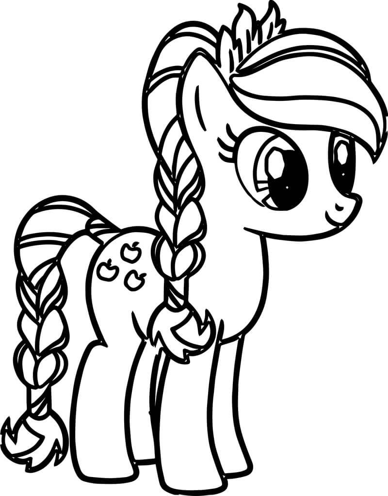 Tranh tô màu ngựa Pony cho bé trai, bé gái đẹp nhất