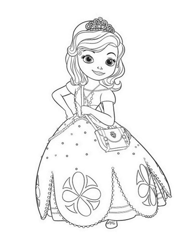 50 mẫu hình tô màu công chúa tuyệt đẹp dành cho bé