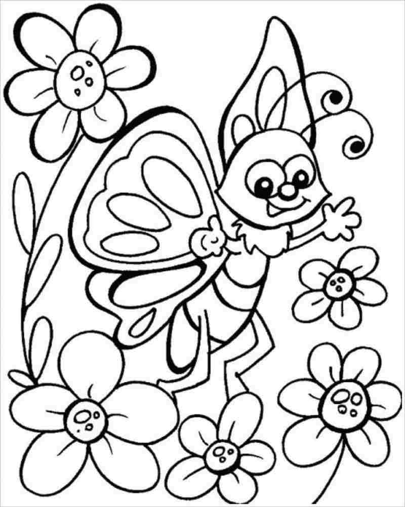 Tranh tô màu con bướm