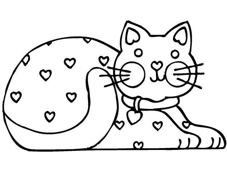 Tranh tô màu con mèo