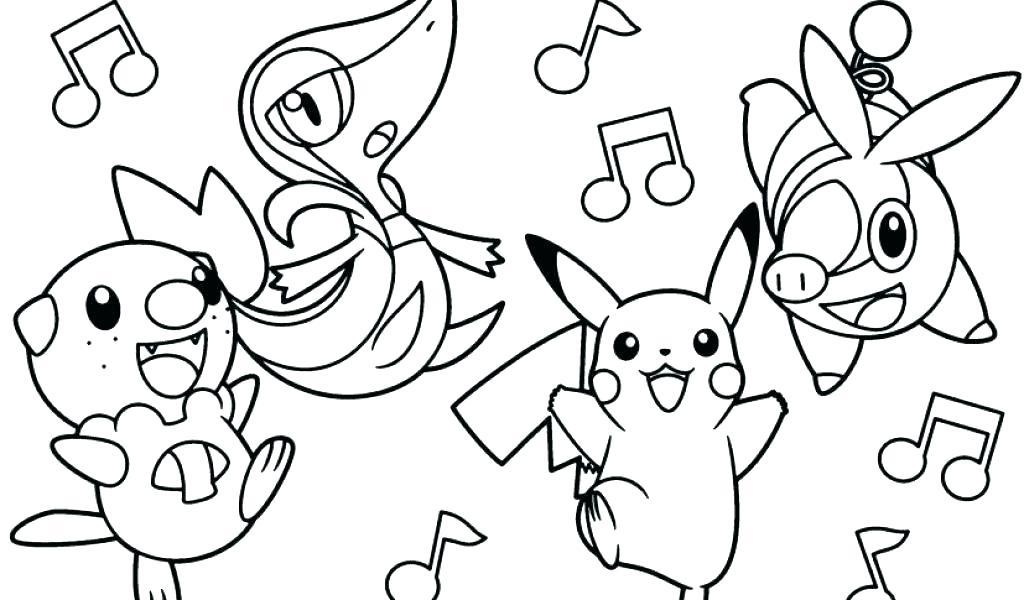 Tuyển tập 50 bức tranh tô màu Pikachu đẹp nhất dành cho bé